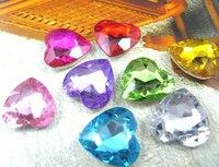 Free shipping~! 5000pcs/Bag 8mm Heart Shape Point Back Round Acrylic Beads / Stones ,3D Nail Art / Jewelry / Garment Decoration