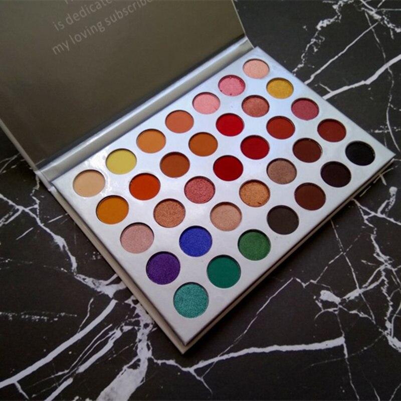 FLOSSY TOURNESOL 35 Couleurs ombre à paupières palette Maquillage Shimmer Mat de fard à paupières palette Cosmétiques Minéral Nu Palette