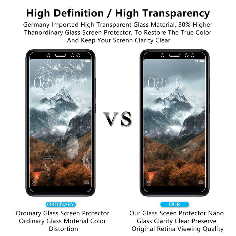 2PCS 2.5D Glass on For Xiaomi Redmi Note 7 Pro Note 3 4 4X 5 6 Pro 9H Tempered Glass Screen Protectors For Redmi 6A 6 Pro 4A 5A