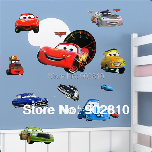 Listed in Stock Free Shipping DIY Wallpaper Cartoon Cars To Kids Wall Sticker For Kid's Room Decoration