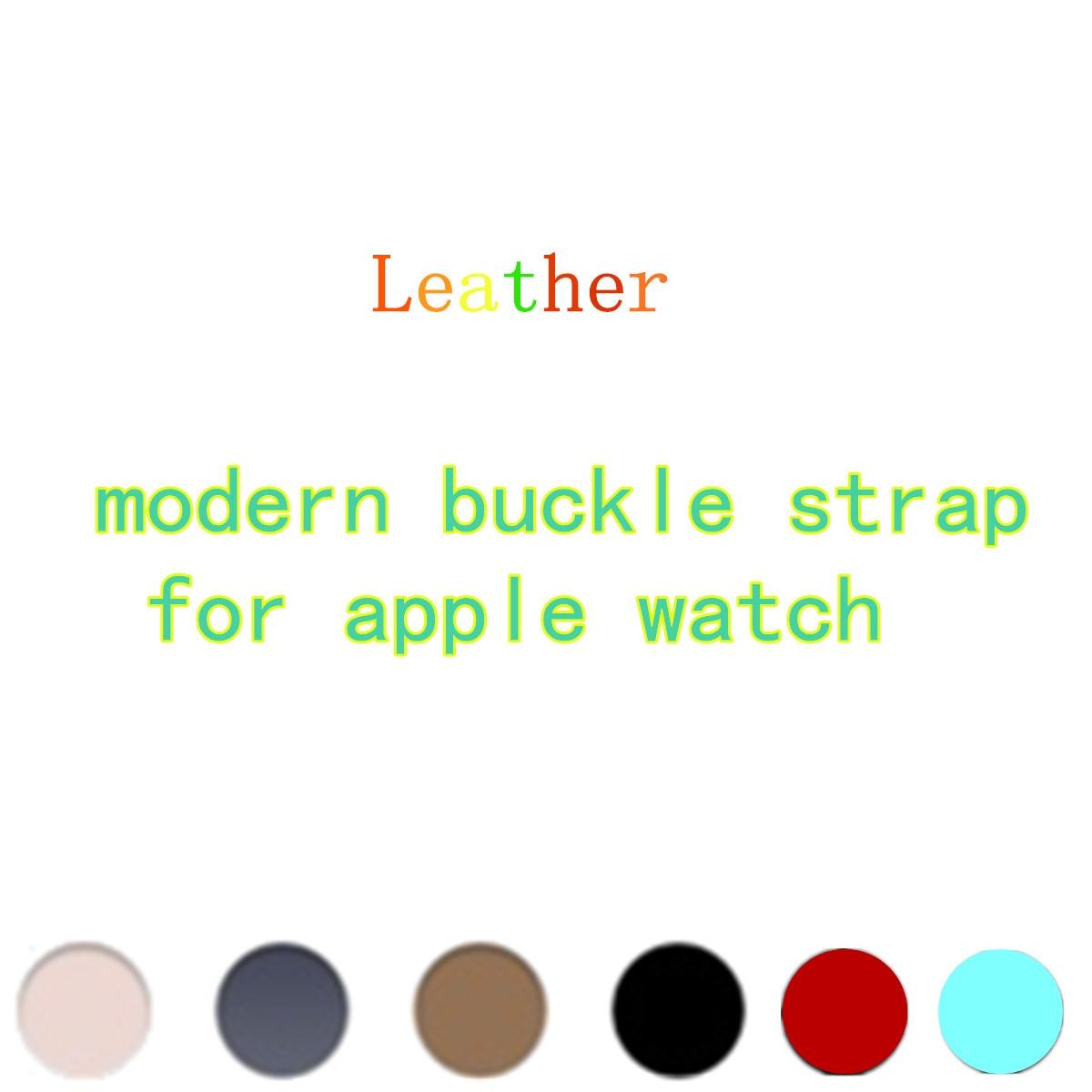 LNOP cuoio moderna buckle strap per apple watch band 42mm/38 braccialetto di vigilanza del Cuoio Genuino cinturino per iwatch 1 2 3