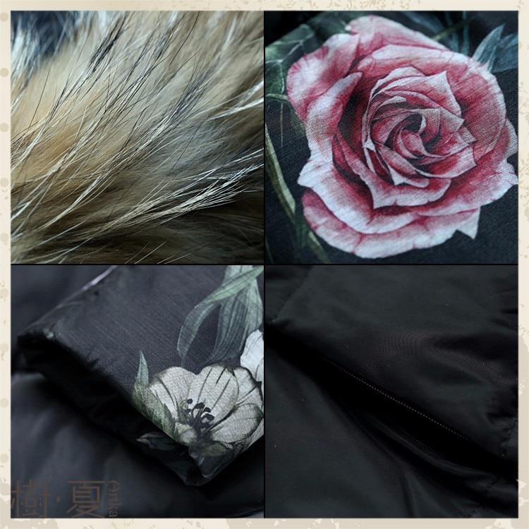 pele feminino com capuz blusão floral casaco zk11867d