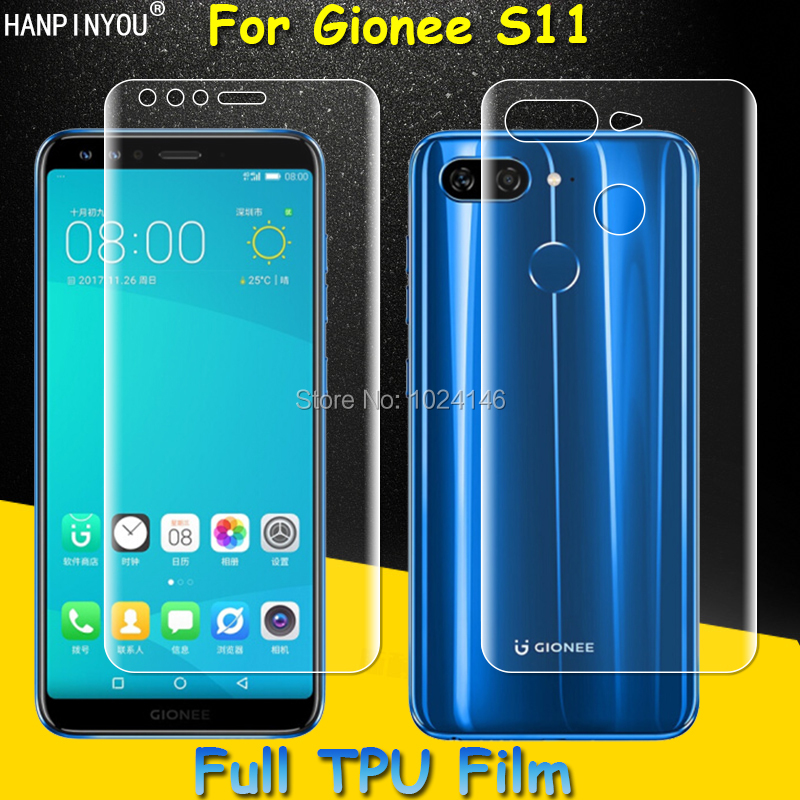 Front / Back Full Coverage Clear Soft TPU Film Screen Protector For Gionee S11 5.99 , Cover Curved Parts (Not Tempered Glass)