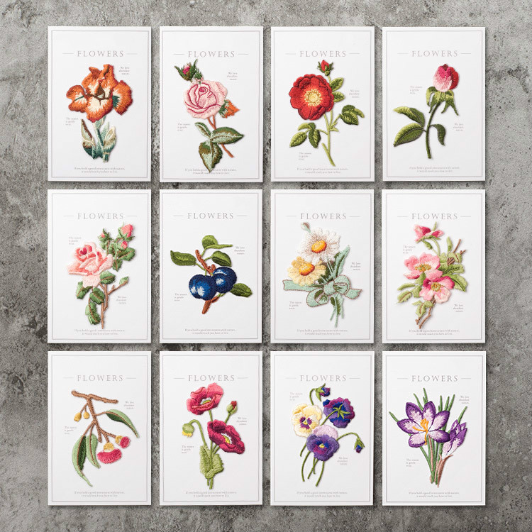 Flowers And Plants Embroidery For Clothing Patch Decals All-match DIY Jeans Hole Repair Decoration Appliqued Badge
