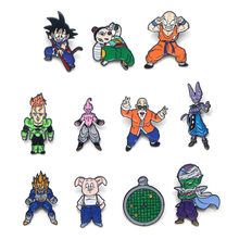 V128 Cartoon Dragon Ball Pins Metal Enamel Pins and Brooches Fashion Lapel Pin Backpack Bags Badge Collection Gifts 1PCS v280 game mass effect metal enamel pins and brooches fashion lapel pin backpack bags badge collection