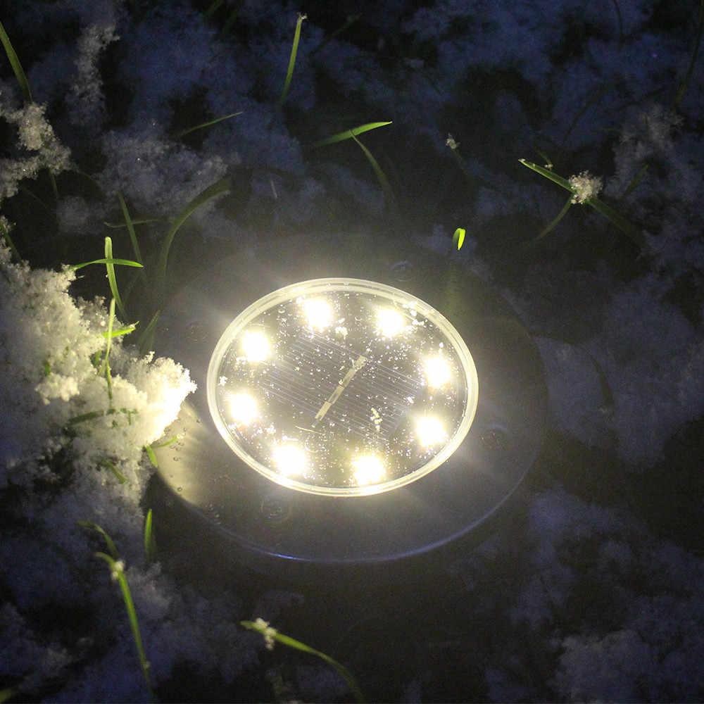 2018 высокое качество светодио дный Солнечный Мощность садовый светильник под землей лампа Открытый Путь сад настил Прямая доставка