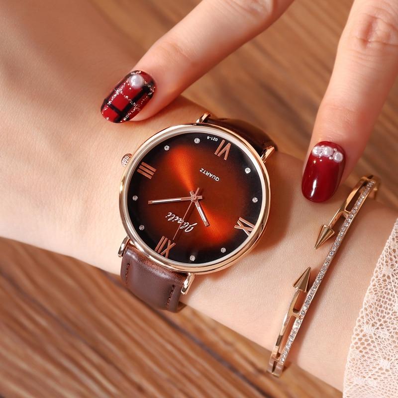 Hodinky 2019 Brand JBAILI Women's Watches Clock Quartz-watch Wrist Ladies Watch Watches For Women Leather Wristwatches