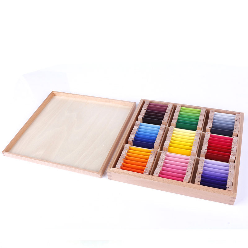 Montessori Wooden Toys Montessori Color Tablets Sensorial Learning Educational Toys for Toddlers Juguetes Brinquedos MG1144H