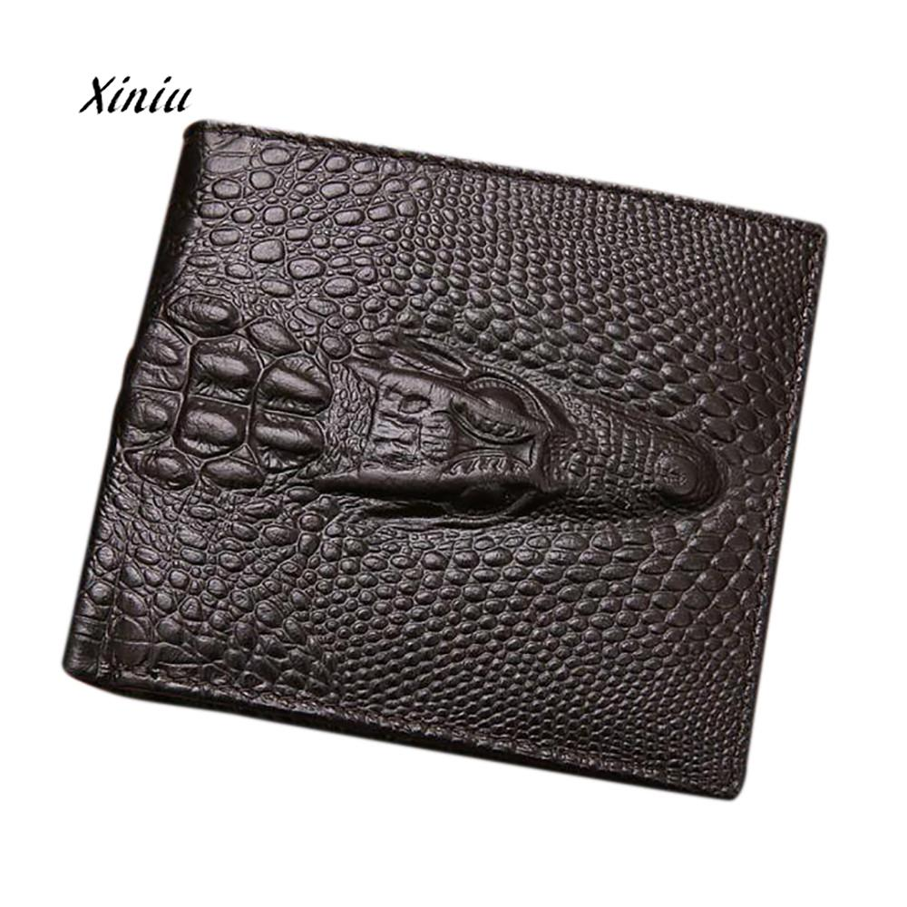 Men Business Waller Bifold Wallet Men Leather Credit/ID Card Holder Billfold Purse Wallet  Coin Wallets