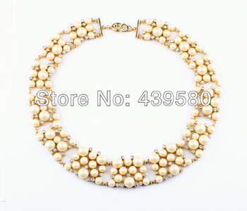 Latest Imitation Jewelry Summer Luxury Pearl Necklace