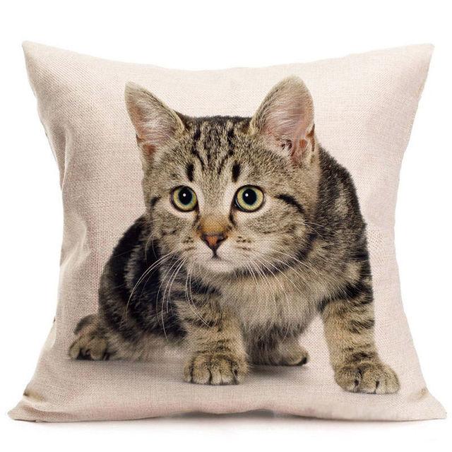 Animale Cuscino Coperture Simpatico Gatto Nero Coperture per Cuscini Pet Fodere