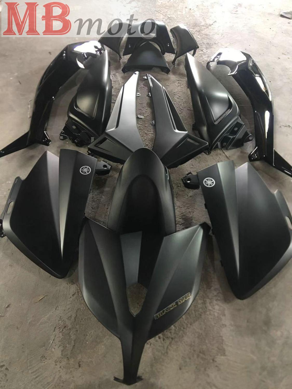 Carénages noir et noir mat pour Yamaha TMAX 530 2012 13 14T-Max Kit de carénage moto tmax530 TMAX530 bonne qualité
