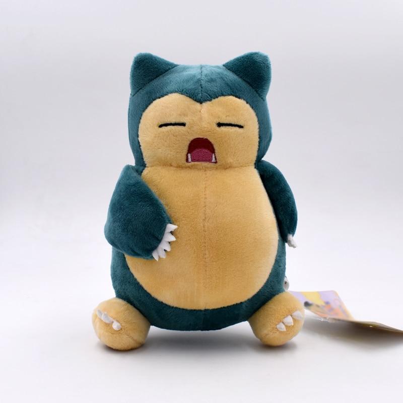 10 PCS Lot Anime Cartoon Plush Peluche Doll Snorlax Soft Stuffed Hot Toy Great Christmas Gift