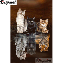 Dispaint Full Square/Round Drill 5D DIY Diamond Painting Animal cat tiger 3D Embroidery Cross Stitch Home Decor Gift A18434 dispaint full square round drill 5d diy diamond painting animal tiger sceneryembroidery cross stitch 3d home decor gift a11463