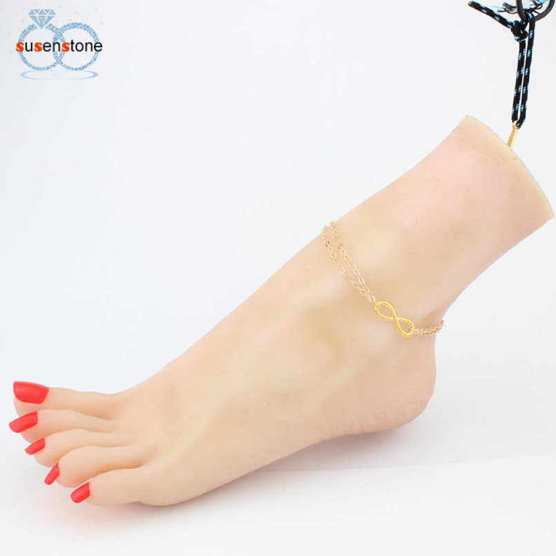SUSENSTONE 2017 Fashion Women Beach Barefoot Foot Jewelry Anklet Chain Chain Jewelry Anklet for ladies Tobilleras