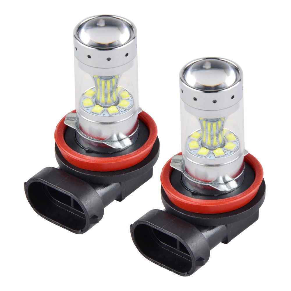 12V H11/H8 100W Car LED Headlight Bulbs Auto Fog Lamp Lights Assembly White For Toyota
