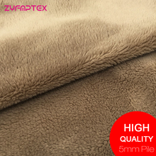 ZYFMPTEX New Arrival 150cm Width Super Soft Minky Fabric Meter 5mm Pile Length Plush Fabric For Toys Blanket Teddy Bear Material