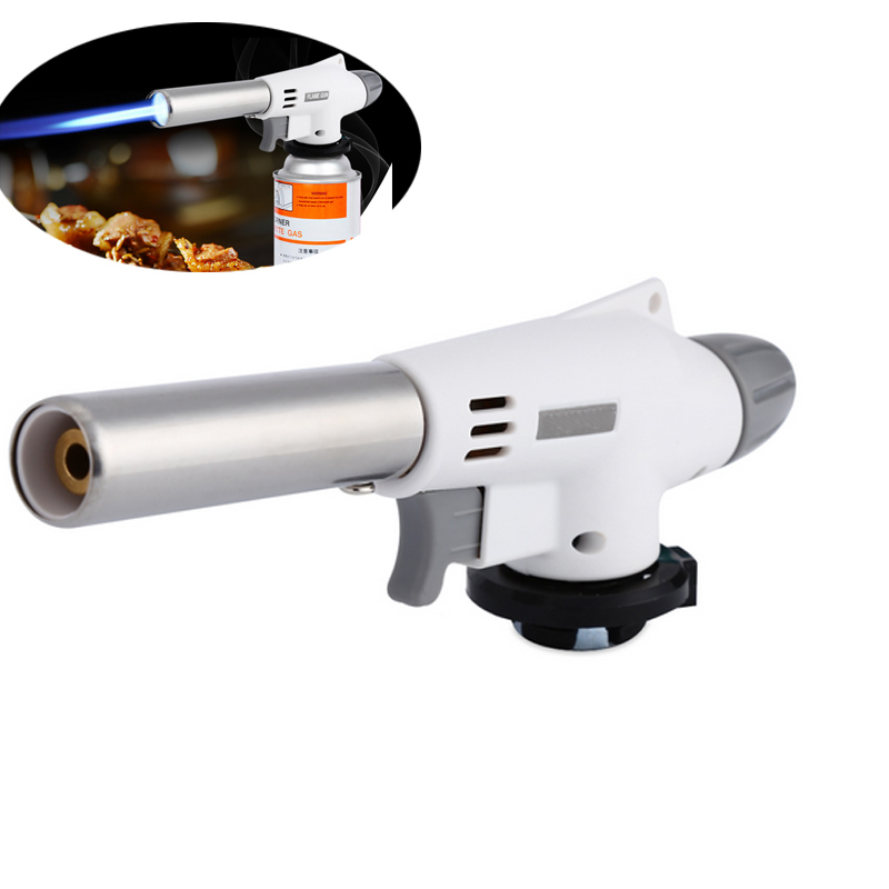 Wind Fully Automatic Electronic Flame Tool Butane Burners Gas Adapter Torch Lighter Hiking Camping Equipment E2S