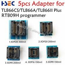 5 шт. разъем адаптера Комплект SOP28+ SOP20+ SOP16+ SOP8 адаптер для TL866CS TL866A TL866II плюс EZP2010 EZP2013 RT809F RT809H программист