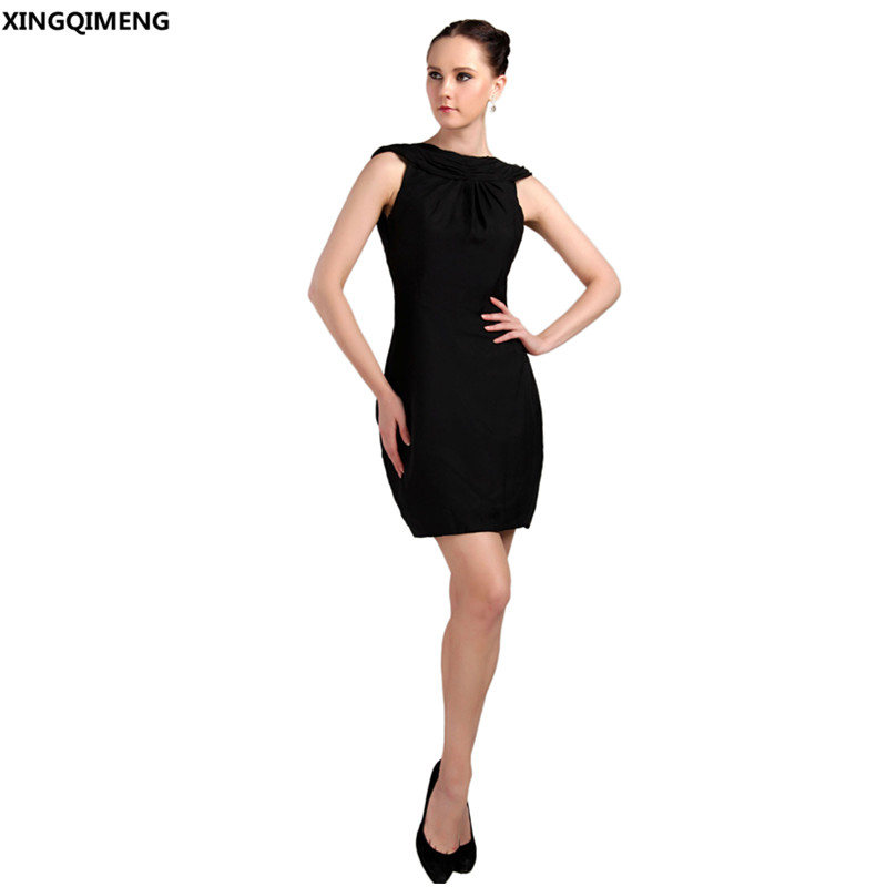 Black Chiffon Sexy Backless Elegant Cocktail Dresses Mini Cheap