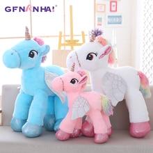 Large licorne Cute Pink Blue White Unicorn Doll Plush Toy Stuffed unicornio animal  toys for children 2bd7e3dd6a3e