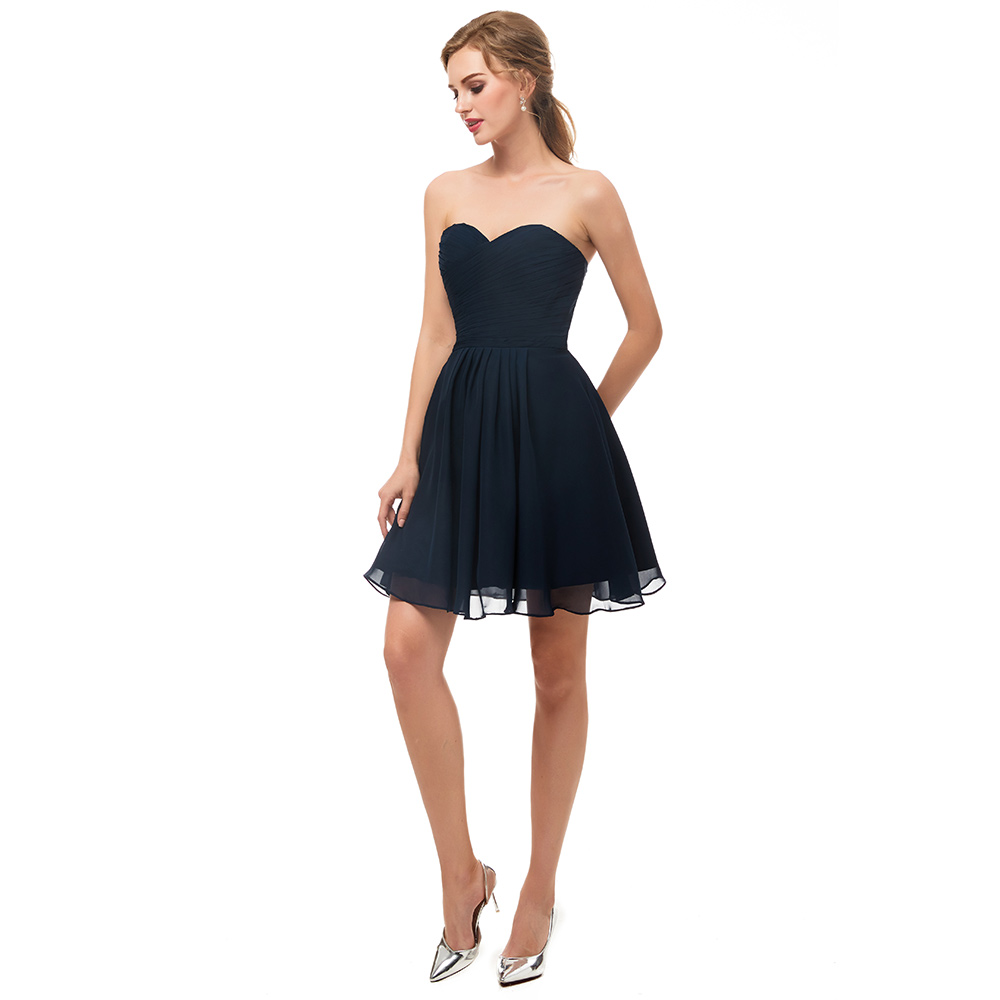 Navy Blue Bridesmaid Dresses Short Plus Size - Carley ...