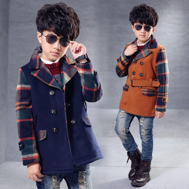 New Promotion Long Striped Unisex Novelty Cotton 2016 Wind Coat Cardigan Jackets For Winter Woolen Cloth