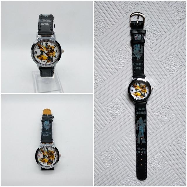 Anime Yellow robot transformers Children Quartz Watch Fashion Brand Kids Watches Crystal Diamond For Student Clock Dropshipping!