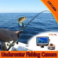 1 Set 20M Cable 3 5inch Color Monitor HD 1100TVL Pixels Waterproof Fish Finder Underwater