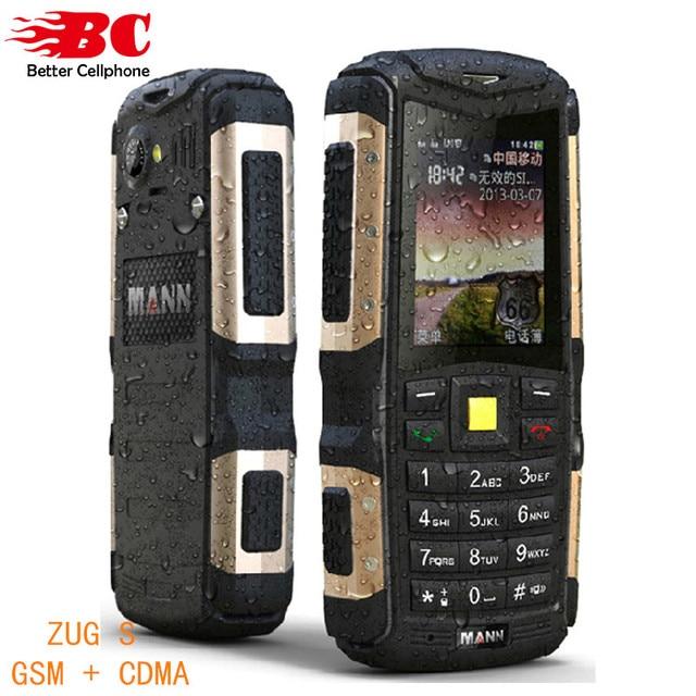 New Original Phone MANN ZUG S Dustproof Shockproof Waterproof Dual SIm GSM 3G WCDMA GPRS 2.0 inch Russion keyboard Mobile Phone