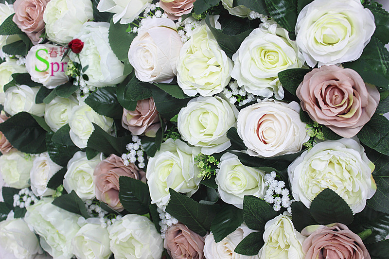 SPR nouveau design 10 pcs/lot haute qualité 3D yiwu fleur mur de mariage toile de fond artificielle rose hortensia arrangements de fleurs