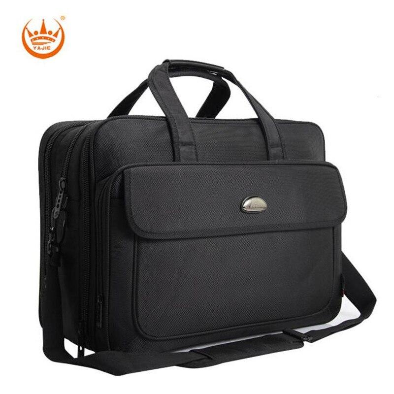 YAJIE Fashion 17 3 inch Laptop Bag 17 Notebook Computer Bag Waterproof Messenger Shoulder Bag Men