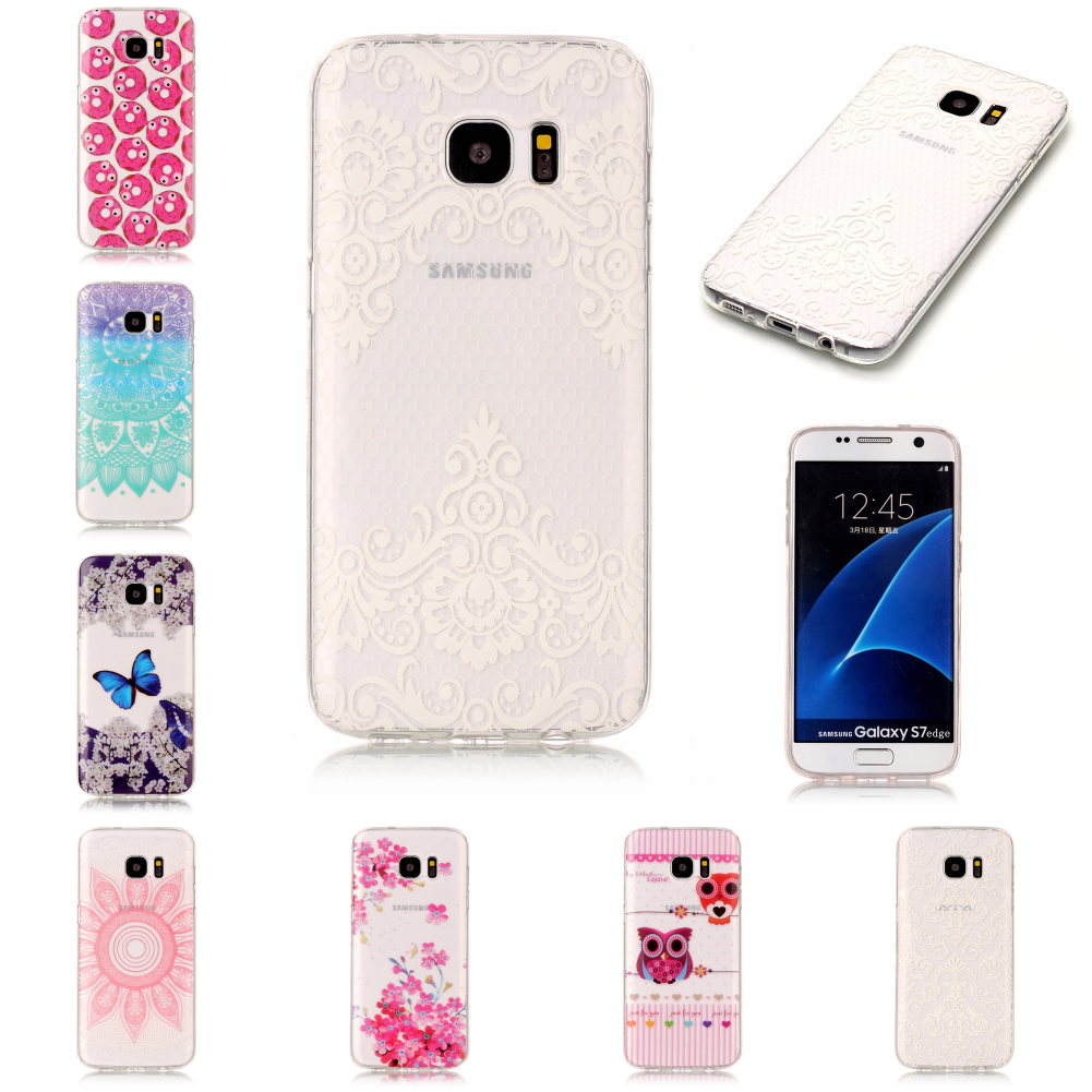 Phone Mobile For Samsu Sumsung Sansu Samsun Galaxy S7 S7 Edge G935 G930 Thin Soft Transparent Silicone Ultra Carcasa Etui Cover