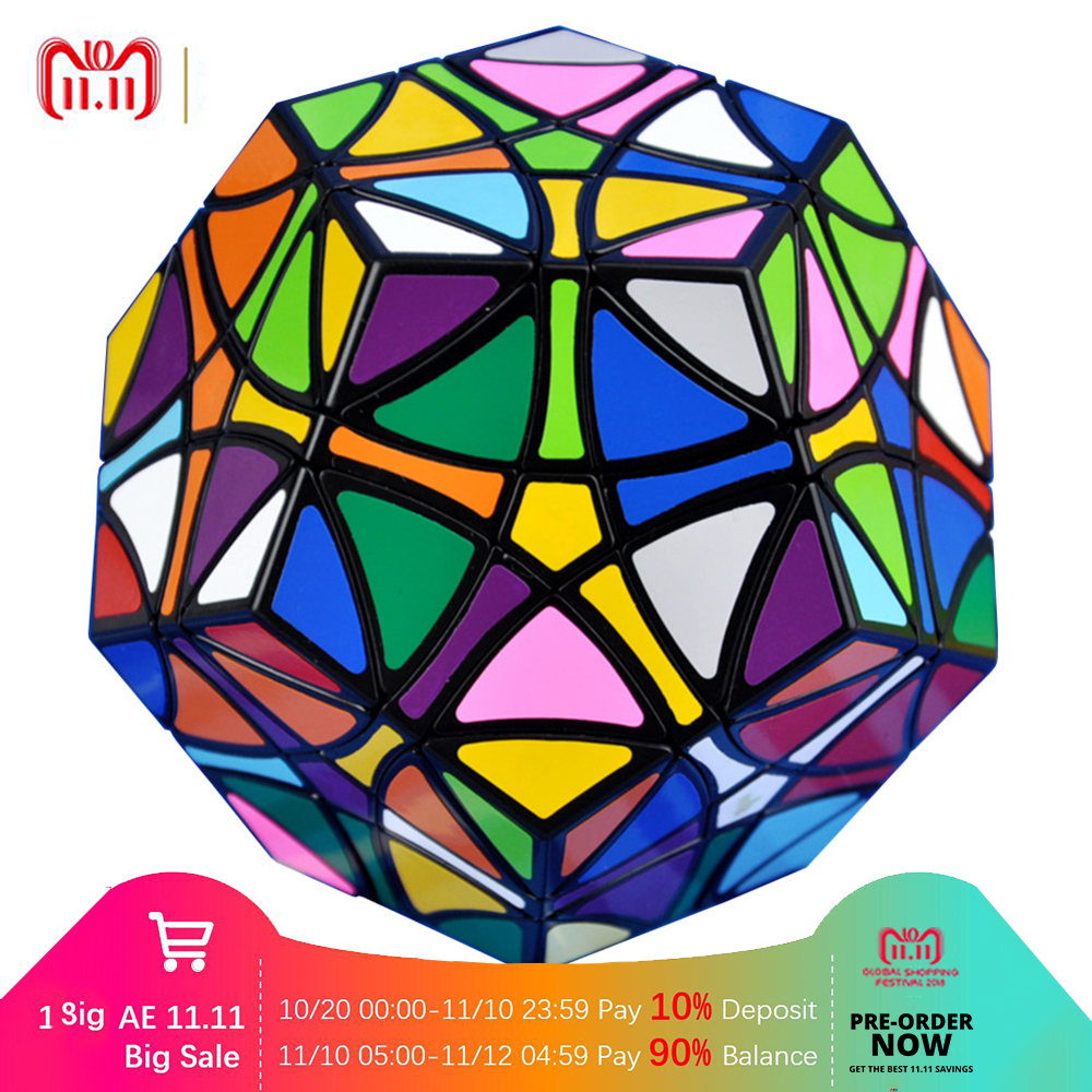 YKLWorld Hot Black Helicopter Dodecahedron Gigaminx Special Toys Magic Cubes Puzzle Speed Cubes Educational Toy For Children -50 hot ocday special toys 12 side megaminx magic cube puzzle speed cubes educational toy new sale