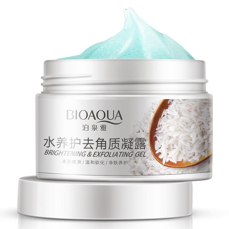 ФОТО 12Pcs BIOAQUA Facial Cleanser Natural Facial Exfoliator Exfoliating Whitening Brightening Peeling Cream Gel Face Scrub Removal