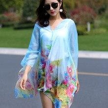 Cardigan Kimono Outerwear Clothing Sun-Shirt Casual Blouse Chiffon Plus-Size Summer Fashion