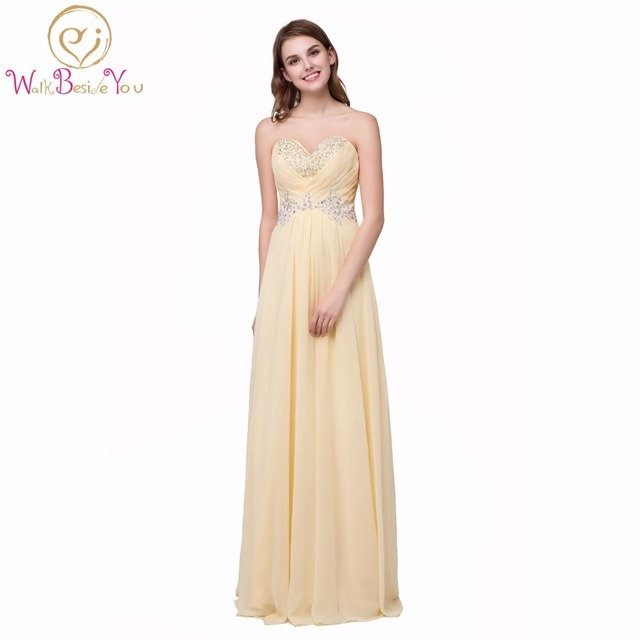 100% Real Wedding cheap Bridesmaid Dresses under 50 Plus Size Yellow ...