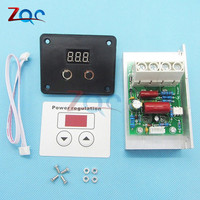 AC 220V 10000W SCR Voltage Regulator Motor Speed Controller Control Dimming Dimmers Thermostat LED Digital Display