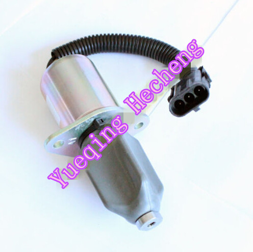 New Shut Off Solenoid Valve 6667993 Fits Start Engine fuel shut off solenoid valve coil 3964624 fits excavator engine