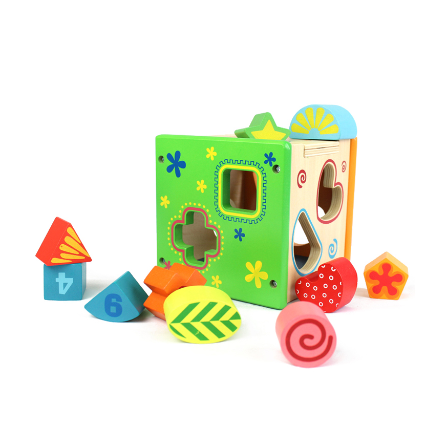 ФОТО Chanycore Learning Educational Wooden Toys Geometric Shape Blocks Box Sorting Matching ww Montessori Enlightenment Gifts 4105