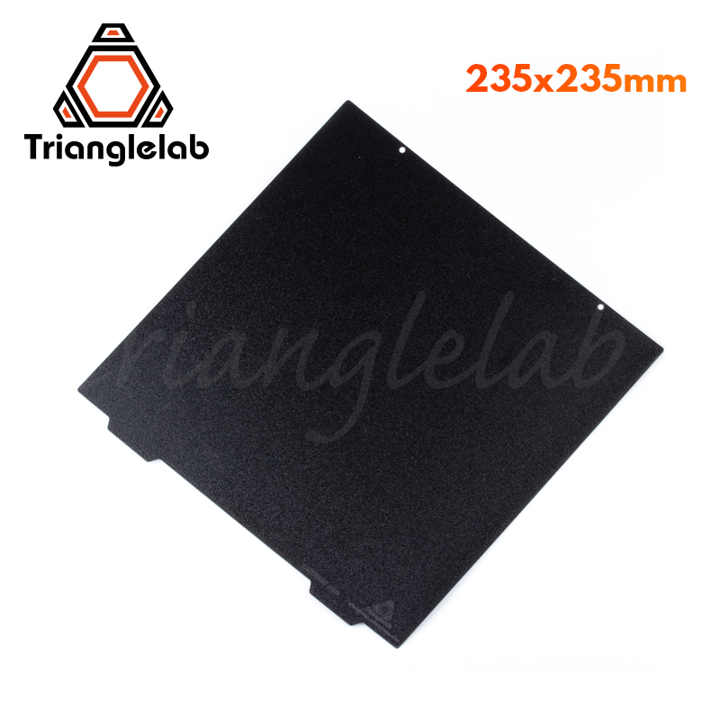 Trianglelab 235 X 235 Ender 3 Double Sided Textured PEI Spring Steel Sheet Powder Coated PEI Build Plate For Ender 3