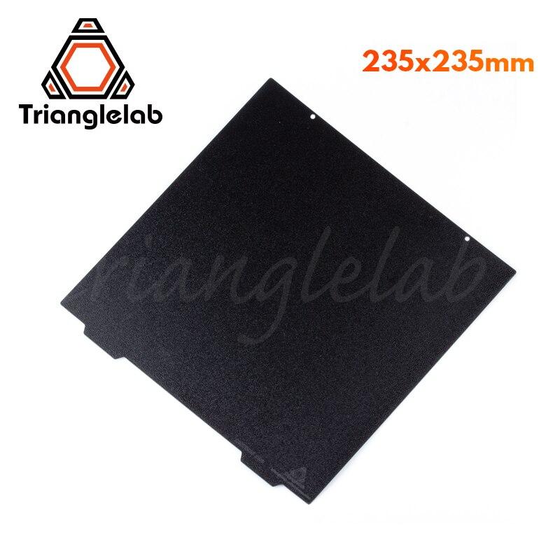 Trianglelab 235X235 ender 3 Dupla face Placa PEI PEI Primavera Chapa de Aço Em Pó Revestido Texturizado Construir para ender 3