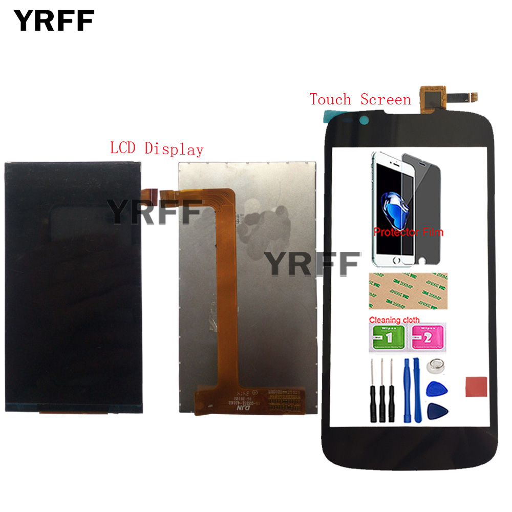 Mobile LCD Display Touch Screen For Fly IQ4413 Quad EVO Chic 3 LCD Display Touch Screen Digitizer IQ 4413 Tools Protector Film