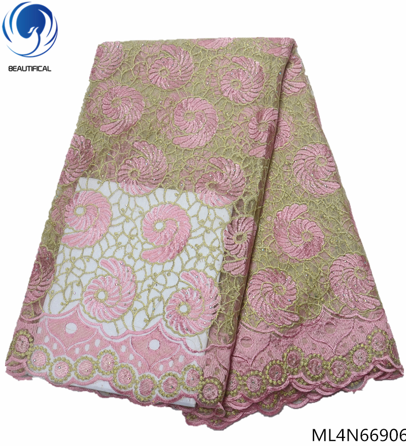 BEAUTIFICAL african lace fabric 2019 african lace fabrics stones french laces fabrics high quality for clothing ML4N669BEAUTIFICAL african lace fabric 2019 african lace fabrics stones french laces fabrics high quality for clothing ML4N669