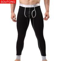 Mannen Warm Thermische Ondergoed Zachte Comfortabele Lange Onderbroek Slaap Bodems Broek Plus Fluwelen Thicken Ankle Voor Mens Leggings Broek