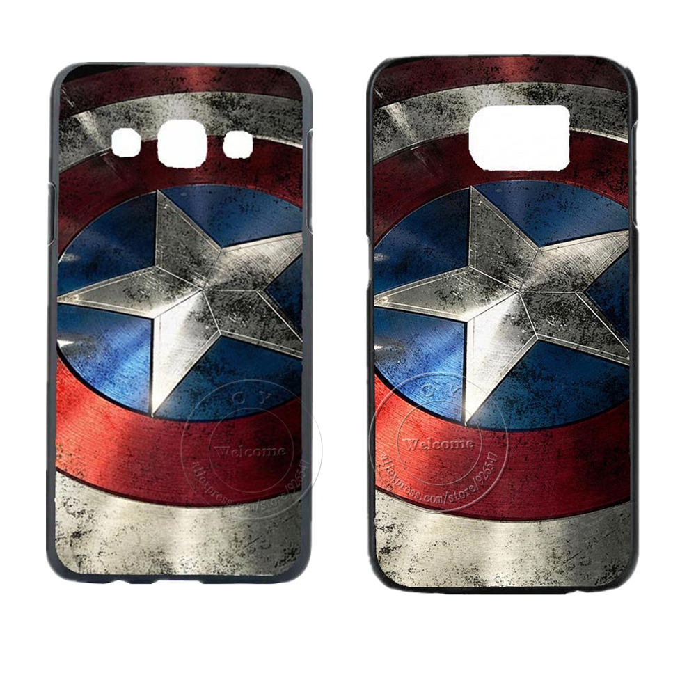 Captain America Design Case Cover For Samsung Galaxy S3 S4 S5 Mini S6 S7 S8 Edge