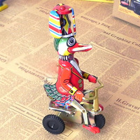 Duck Bricycle Clockwork Mount Nostalgic Tin Toys For Christmas Gift Ideas Collectibles Children S Toys