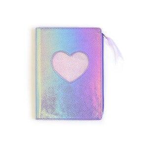 Image 5 - Neue 2019 Nette Cartoon PU Leder Notebook Laser Herz Tagebuch Persönliche Tagebuch Woche Planer Organizer Hinweis buch Schule Schreibwaren