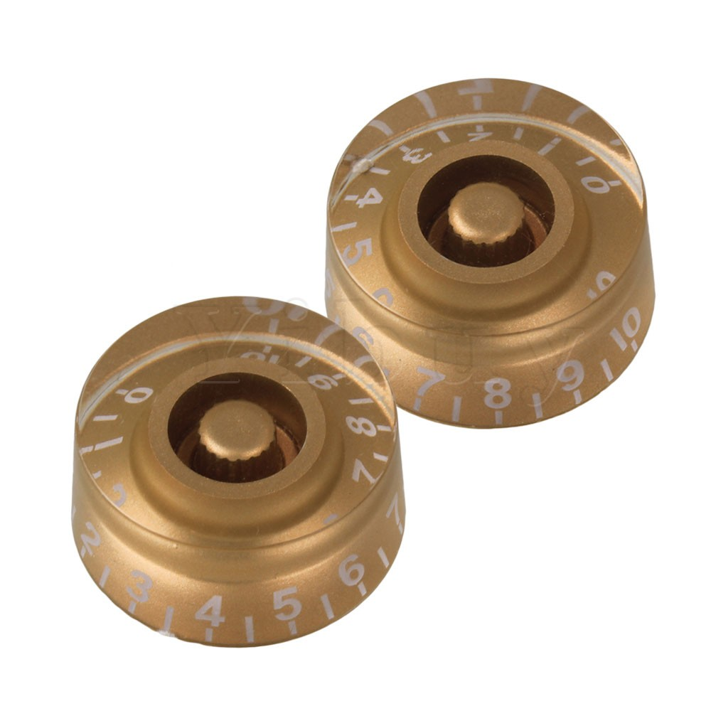 Yibuy 200 x Speed Control Knobs Gold with White Number for Electric GuitarYibuy 200 x Speed Control Knobs Gold with White Number for Electric Guitar