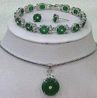 Belle Bella Meraviglioso parola Pretty green gemma gemma del braccialetto della collana dei monili della gemma delle donne